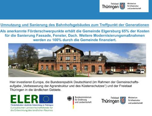 Bahnhof Elgersburg Touristinformation