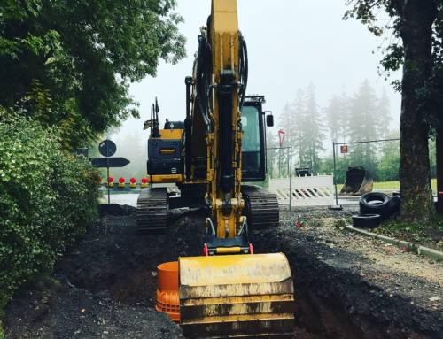 Aktuell im Bau – Planung + Überwachung Erschließung Langewiesener Straße in Oehrenstock